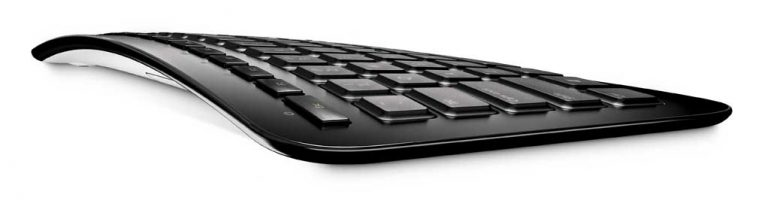 Microsoft Arc Keyboard – Profile View