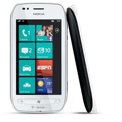 Expected to be available in black or white front and back finish with matte black and matte white interchangeable back covers, the Nokia Lumia 710 provides one-click access to popular services such as Netflix, T-Mobile TV with mobile HD, and mobile Web experience with Internet Explorer Mobile.