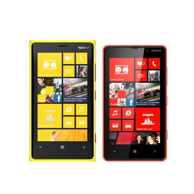 Nokia today introduced the Lumia 920 and the Lumia 820, its first phones that will use the new Windows Phone 8 operating system.
