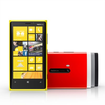 The Nokia Lumia 920 will come in yellow, red, white, grey and black. It offers Nokia PureView, which makes it possible take high-quality photos and videos at home, in restaurants and even at night.
