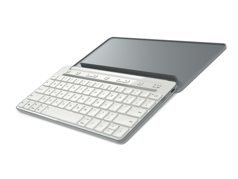With the Microsoft Universal Mobile Keyboard, getting stuff done while you're on the go has never been easier. Power through emails; put together a proposal or instant message with a friend. It doesn't matter if you're on your tablet or your smartphone, the Universal Mobile Keyboard was designed to work with iPad, iPhone, Android devices and Windows tablets.