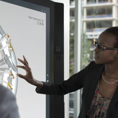 Surface Hub's custom Windows 10 experience runs amazing and immersive large-screen apps to enhance group productivity.