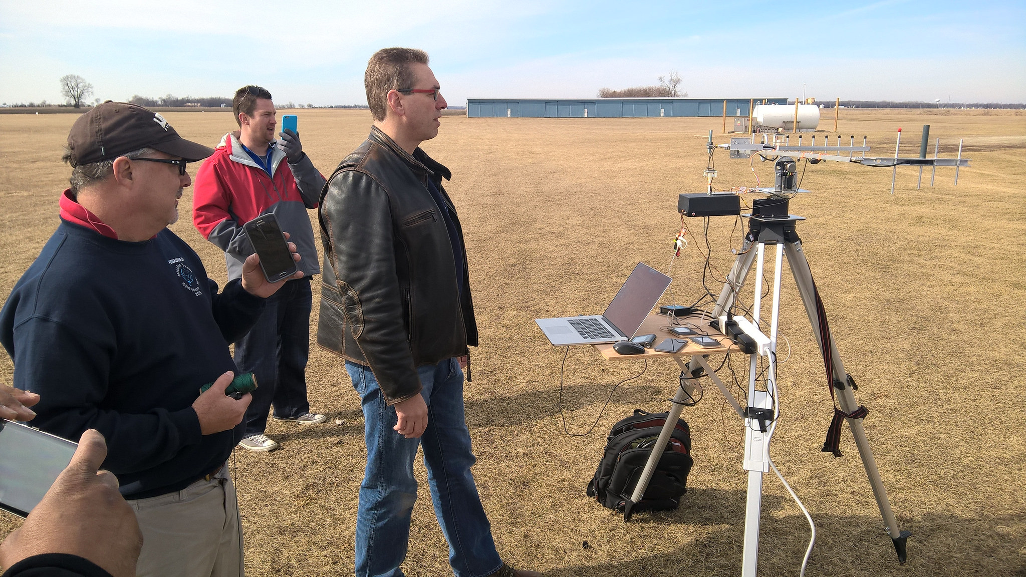 Pegasus II: Setting up the tracking antennas for data and video.
