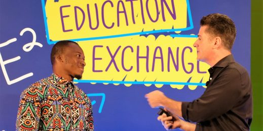Teacher who used a chalkboard in a computer class with no computers, stars at Microsoft's Education Exchange