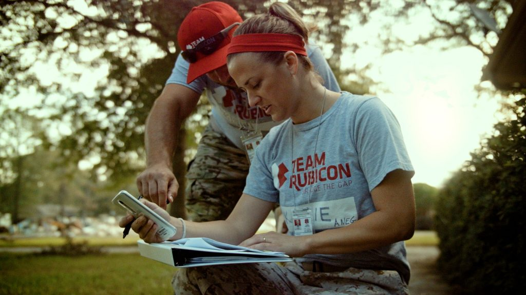 Members of Team Rubicon in the field