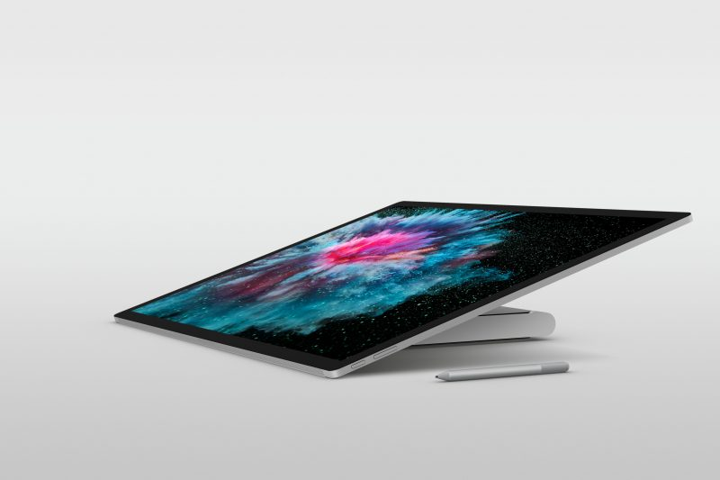 Surface Studio 2 packs professional, productive power into a sleek and thin 12mm digital canvas with 38 percent higher luminance and 22 percent more contrast3 than its predecessor.
