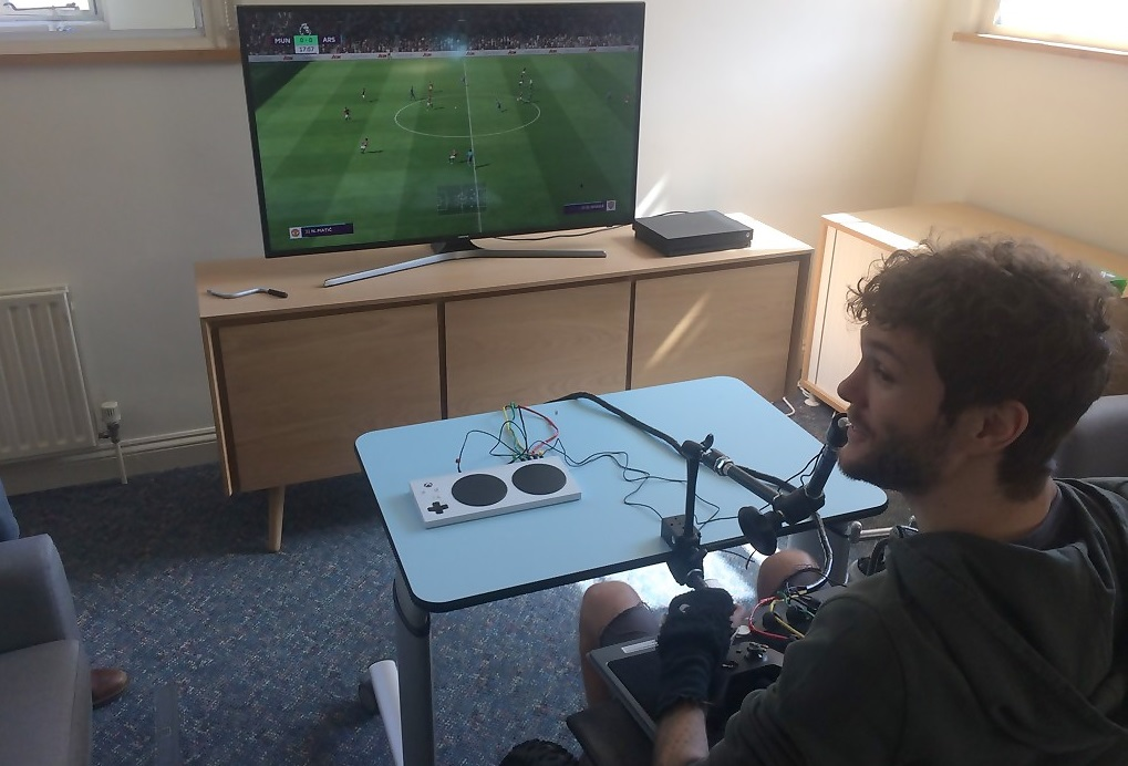 George Dowell plays FIFA with the Xbox Adaptive Controller