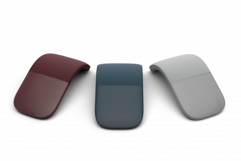 The Microsoft Surface Arc Mouse comes in a range of rich colors including Light Gray, Burgundy and Cobalt Blue to complement your device and personal style.