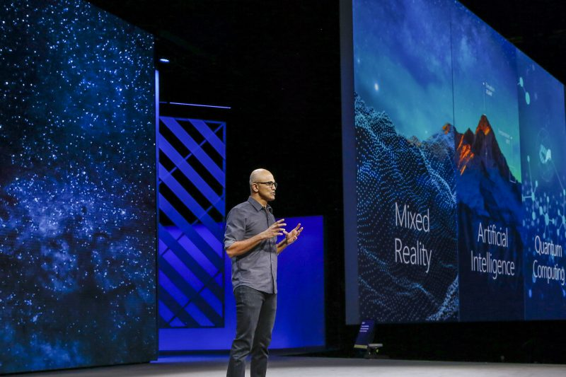 Microsoft CEO Satya Nadella talks about AI, MR and Quantum Computing at Microsoft Ignite 2017.