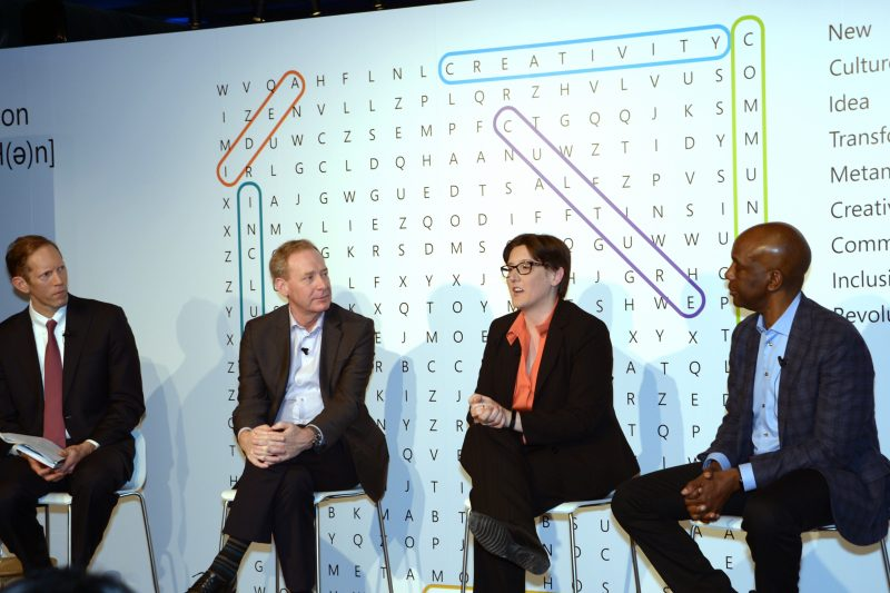 Business Insider CEO Henry Blodget, Microsoft President Brad Smith, Princeton Computer Science Dept. Chair Jennifer Rexford, Director of McKinsey Global Institute James Manyika