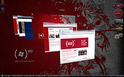 Windows Vista Ultimate (PRODUCT) RED wallpaper and flip 3-D
