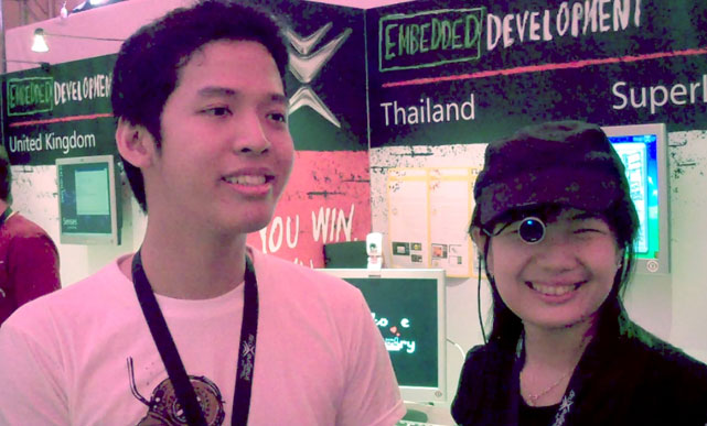 The SuperLove Factory team from Thailand presented their Imagine Cup project, Braille Eye.