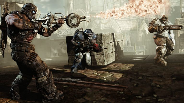 """Gears of War 3"" is one of the longest campaigns out there, offering several hours more game play than the length of an average action game."