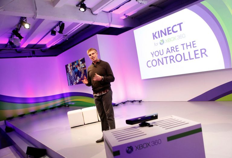 Dave McCarthy, Xbox 360 general manager, unveils a new way to learn through play with Kinect for Xbox 360 as he announces Microsoft's latest partnerships with Disney, Sesame Workshop and National Geogaphic, Tuesday, Oct. 18, 2011 in New York.