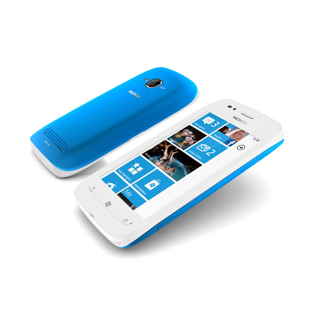 Shown here in white with a cyan back cover.