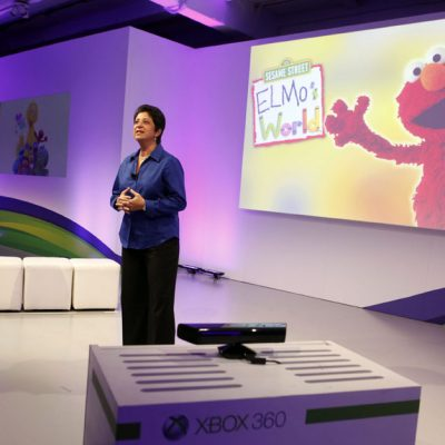 Rosemarie Truglio, Ph.D., of Sesame Workshop, unveils a new way to learn through play with Kinect for Xbox 360 as she speaks about Sesame Workshop's partnership with Microsoft.  New York City, Oct. 18, 2011.