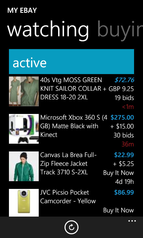 Search, bid and watch for your favorite items from the convenience of your Windows Phone device.