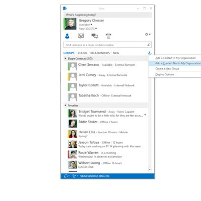 With Lync-Skype connectivity, Lync customers can add Skype contacts in a few easy steps.