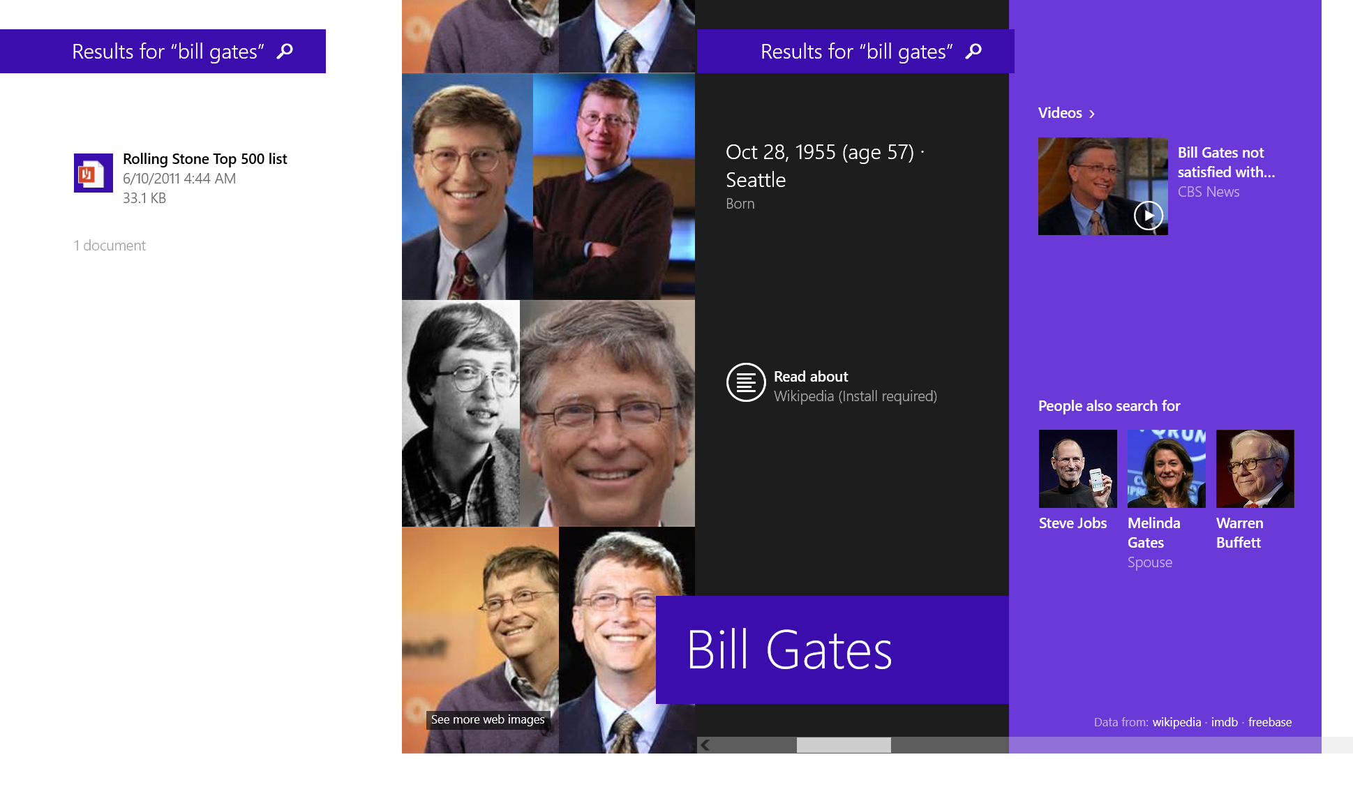 Search in Windows, powered by Bing, is the first step towards a more efficient and intuitive way to find the information you want.