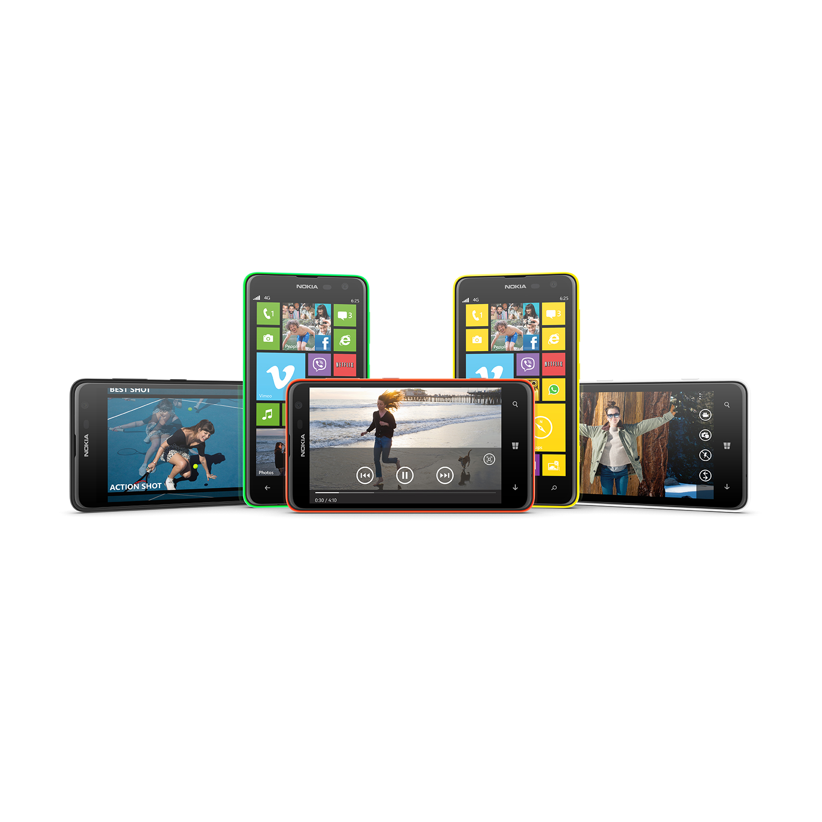 Powered by Windows Phone 8, the Nokia Lumia 625 offers faster mobile fun, as well as safer surfing with Internet Explorer 10 – making it ideal for viewing videos, games and other content.
