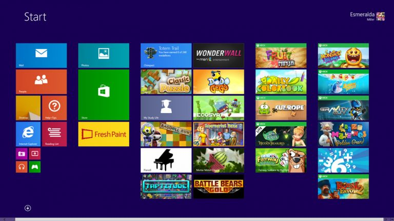 When other users sign in, their own personalized Start screen appears. The kids can have their own content and settings, and it's all kept safe and separate from yours.