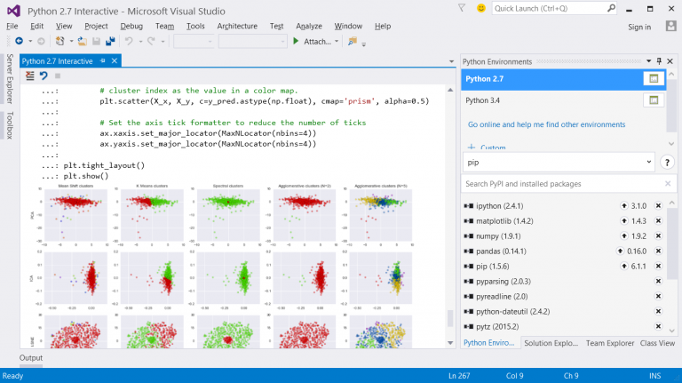 Python Tools 2.2 RC - Interactive window with inline plots