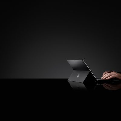 typing on a Surface device