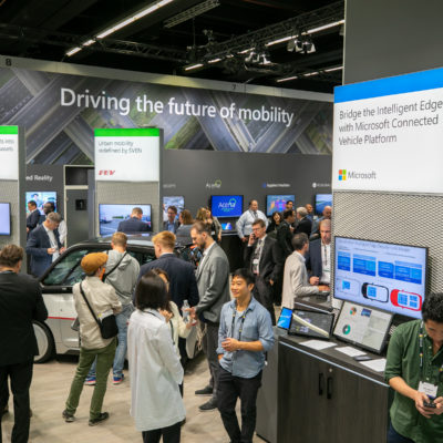 Microsoft IAA booth with Icertis, FEV and more