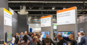 Microsoft IAA booth with Adobe, Bosch and Daimler
