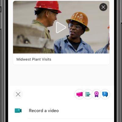 发布的SharePoint与视频在Yammer的的iOS