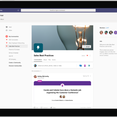 Yammer in Teams community