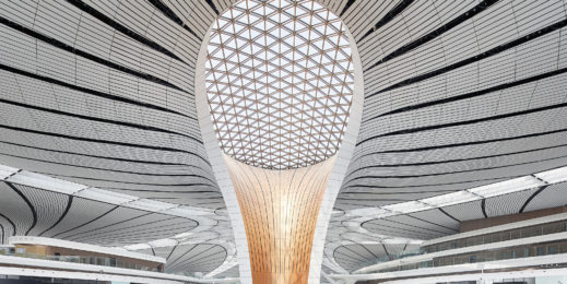 Photo of interior of Beijing Daxing International Airport