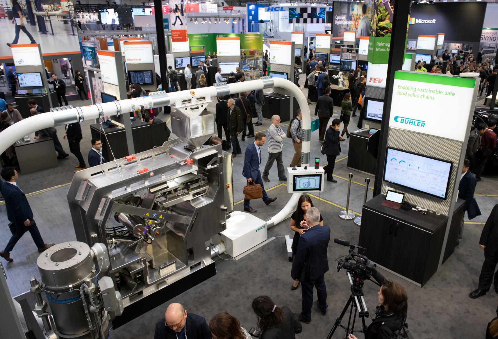 Microsoft booth at Hannover Messe 2019
