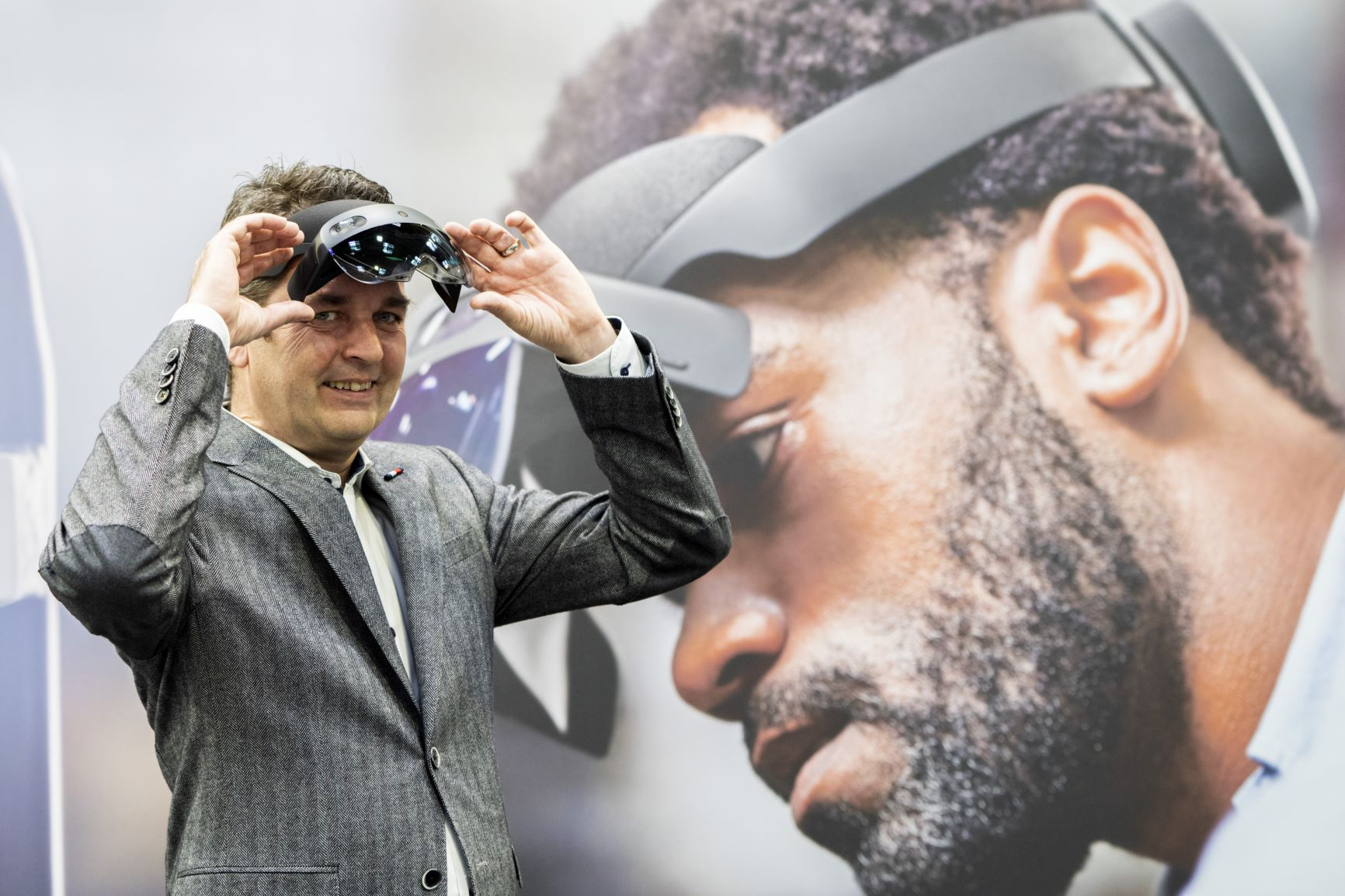 Microsoft HoloLens demo at Hannover Messe 2019