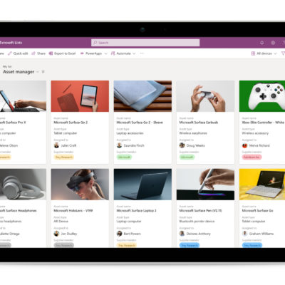 Microsoft Lists: Asset manager in tablet