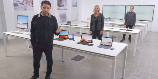 Panos Panay introducing the new Surface devices