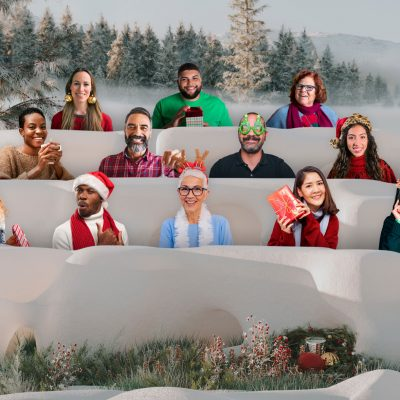 Microsoft Teams Together mode holiday party