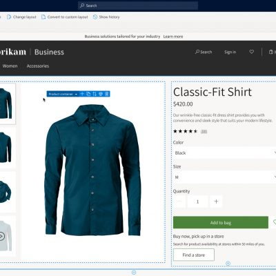 Dynamics 365 Commerce user interface