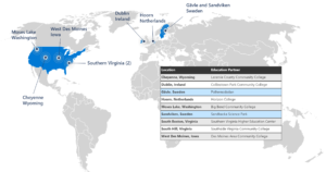 Map of Microsoft DCA locations.