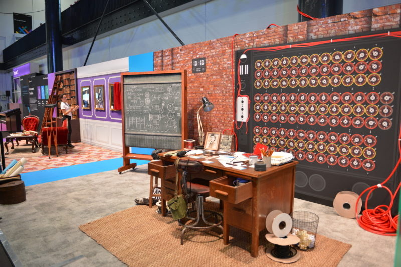 Alan Turing area on the expo floor