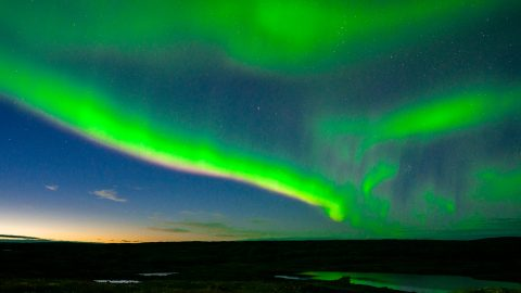 Northern lights Nunavet Canada