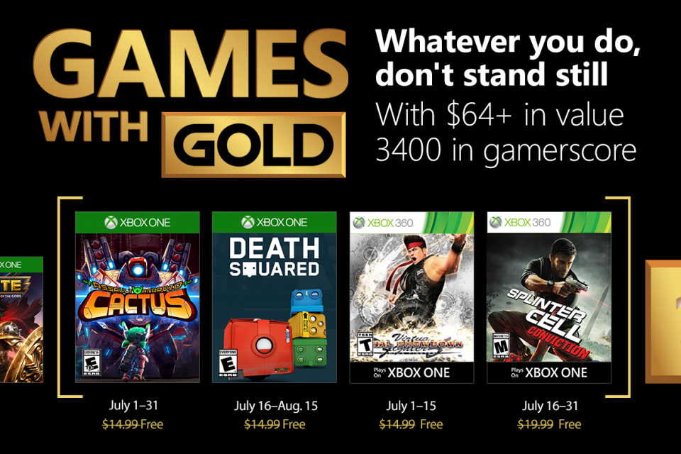 Games with Gold Juli