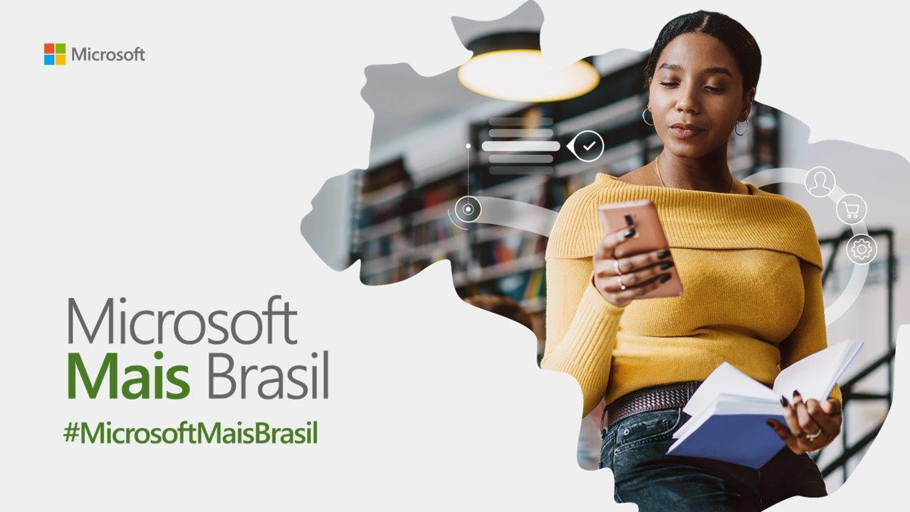 Cartel de Microsoft Mais Brasil