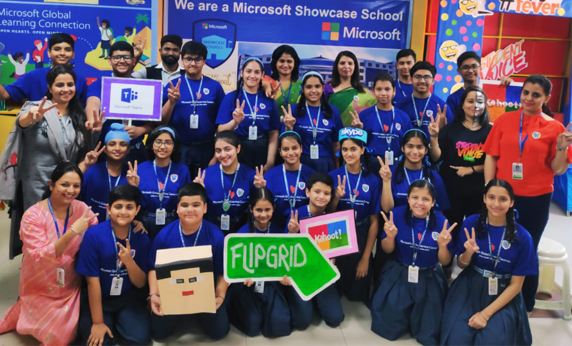 Students participate in microsoft global learning connection 2019