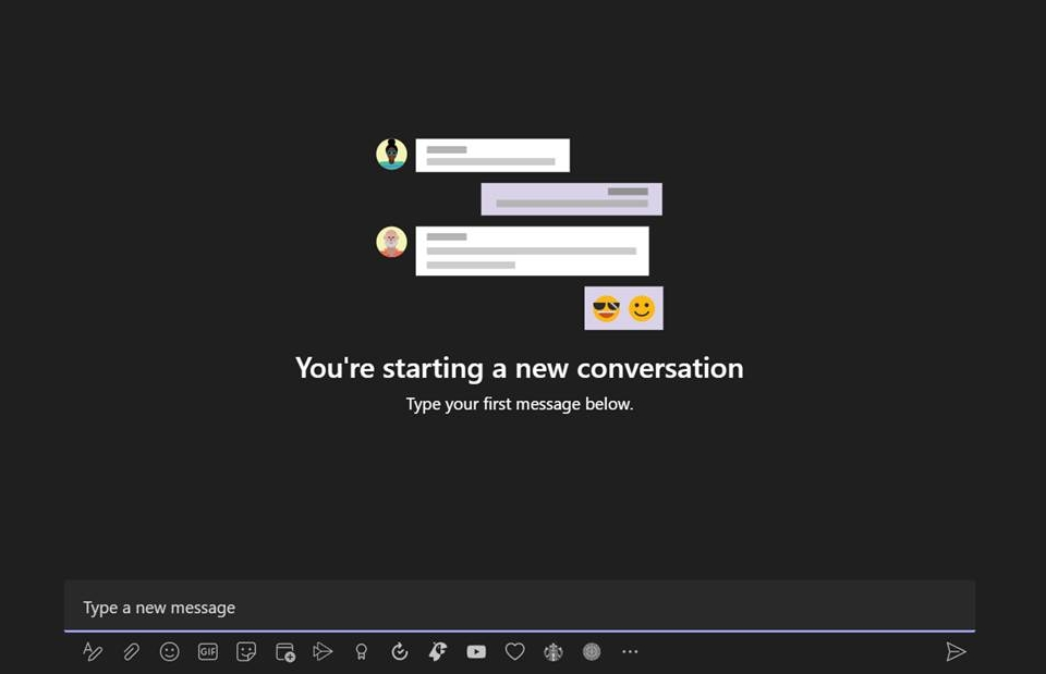 Screenshot of the built-in meme generator on Microsoft Teams