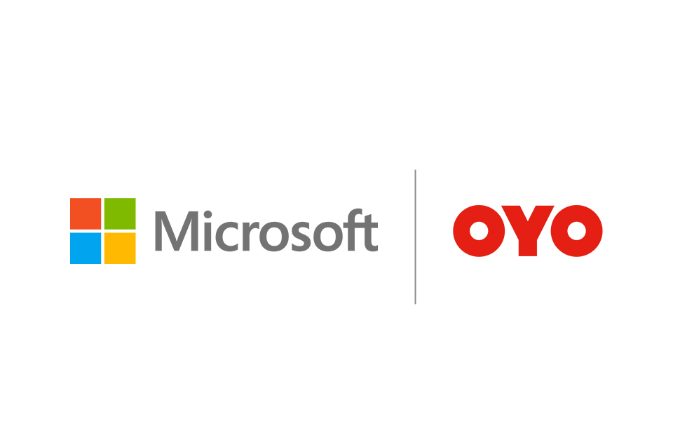 an image with logos of Microsoft and OYO