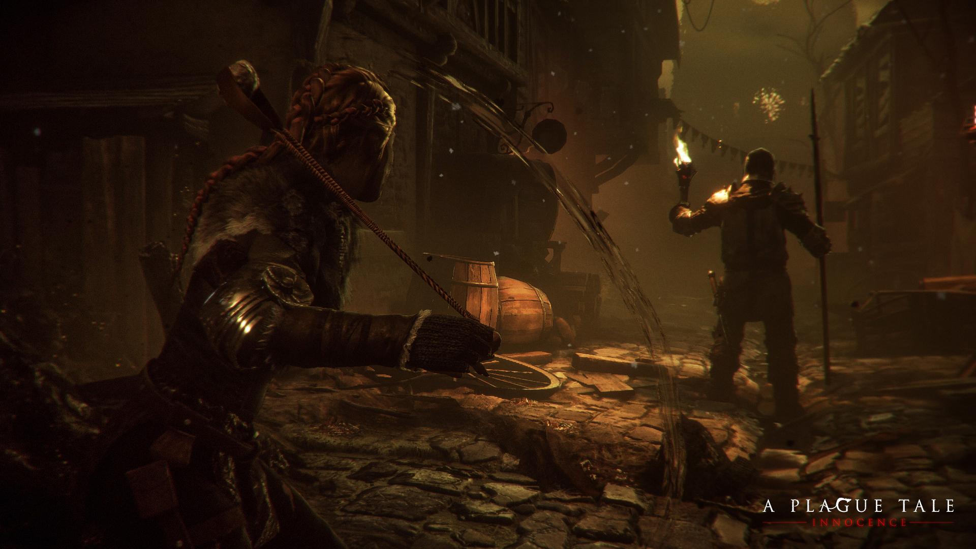 Снимок экрана: сцена из игры A Plague Tale: Innocence