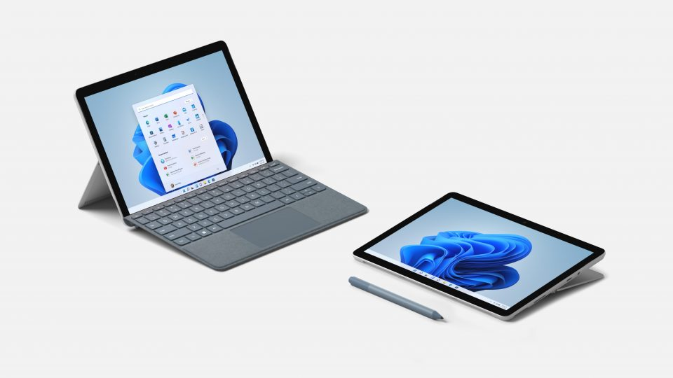Microsoft Surface Go 3 tablets with and without keyboard