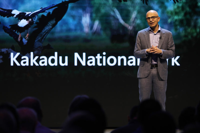 Microsoft CEO Satya Nadella speaks at Microsoft Innovate