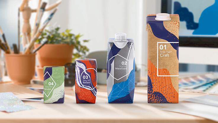 Cartons on desk, Tetra Pak® Artistry